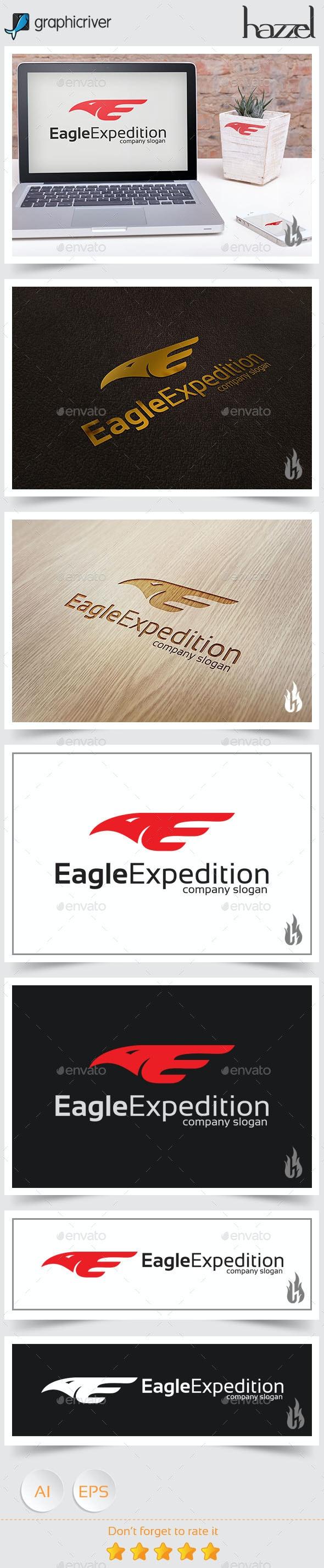 Eagle Expedition - Letter E Logo - Letters Logo Templates