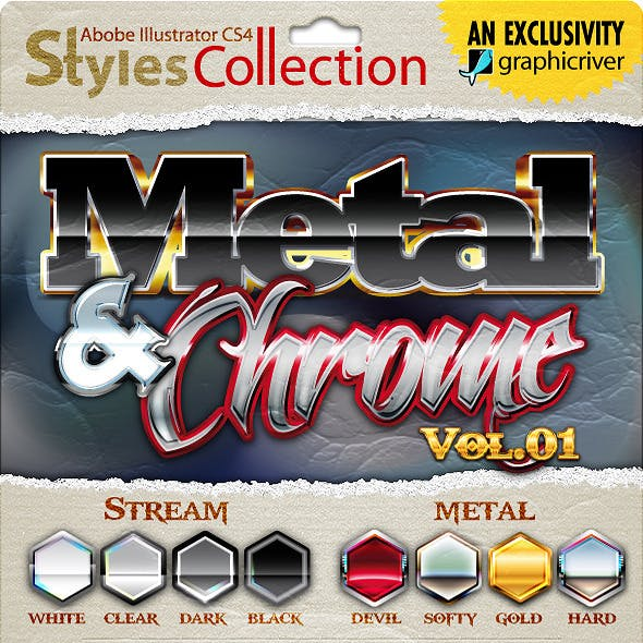 AI Styles Collection #02A: Metal & Chrome #01