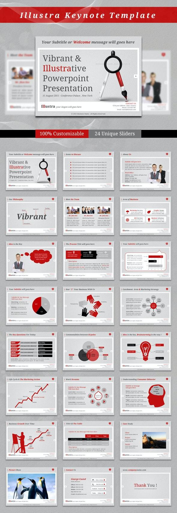 Illustra Keynote Template - Business Keynote Templates