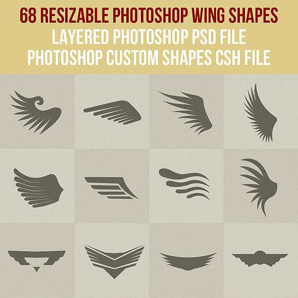 68 Photoshop Wing Shapes