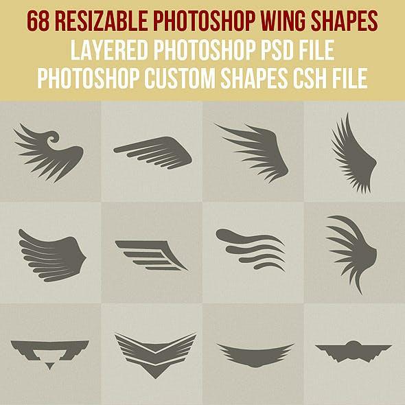 68 Photoshop Wing Shapes