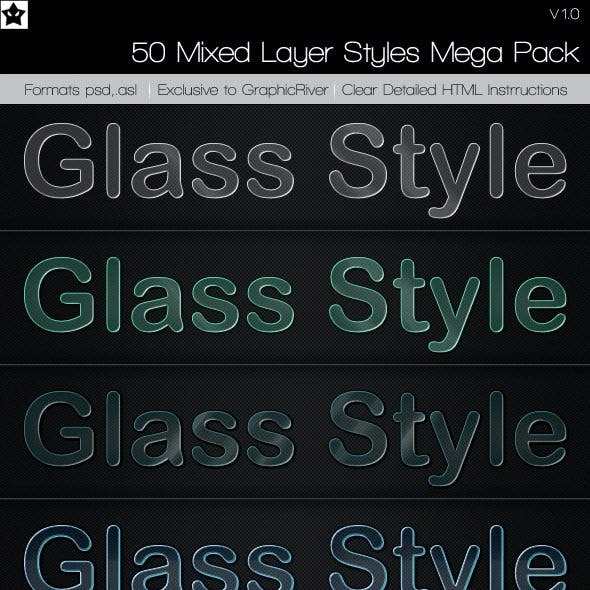 50 Mixed Layer Styles Mega Pack