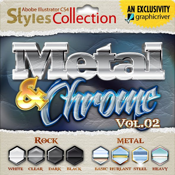 AI Styles Collection #02B: Metal & Chrome #02