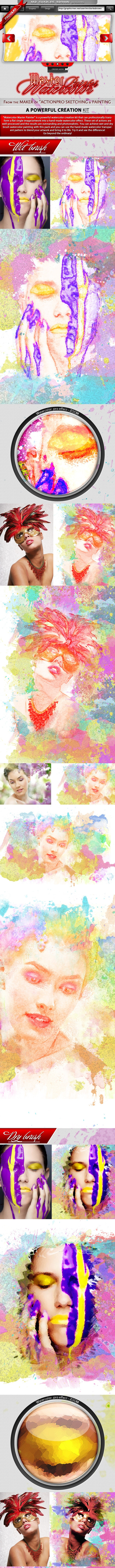 Watercolor Master Painter Action - Photo Effects Actions