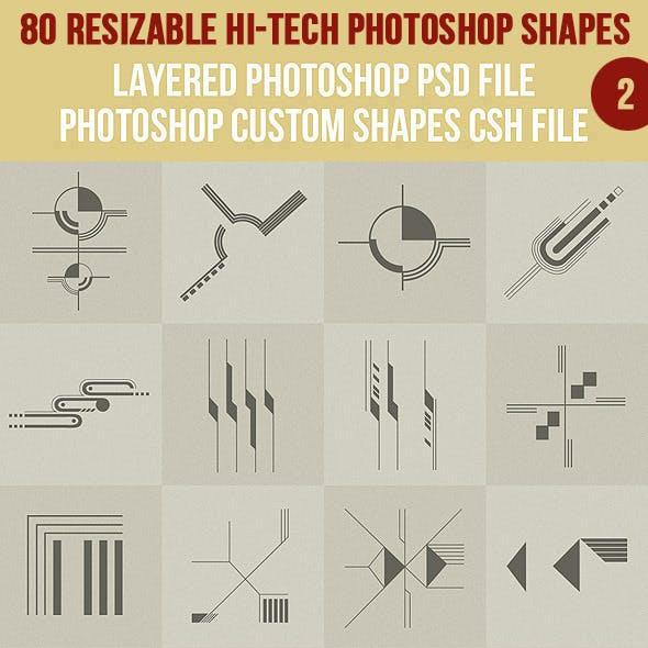 80 Photoshop Hi-Tech Shapes 2
