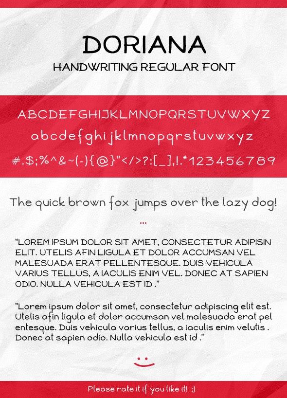 Doriana Handwriting Regular Font - Handwriting Fonts