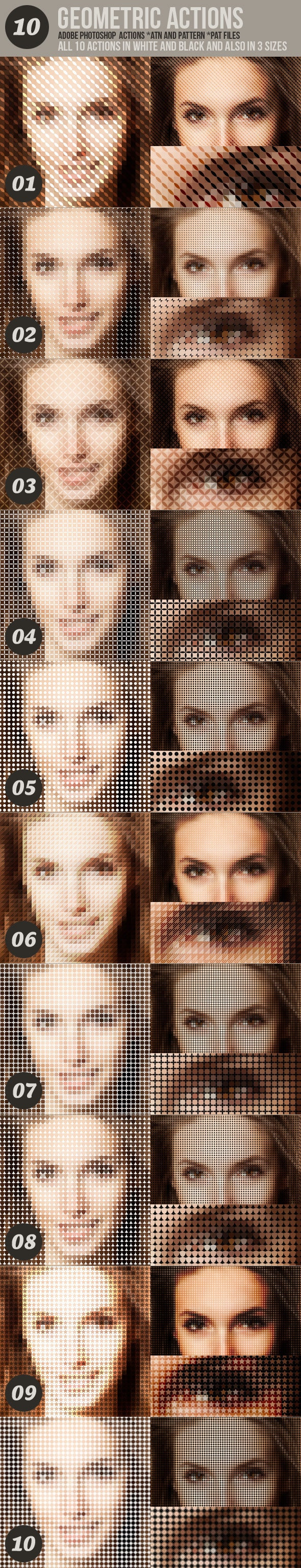 10 Geometric Photo Actions - Photo Effects Actions