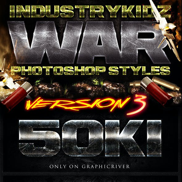 War Photoshop Layer Styles V3