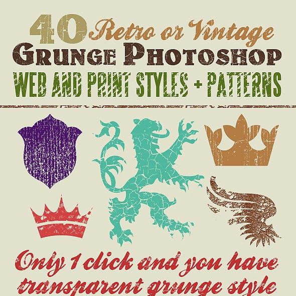 40 Grunge Photoshop Styles