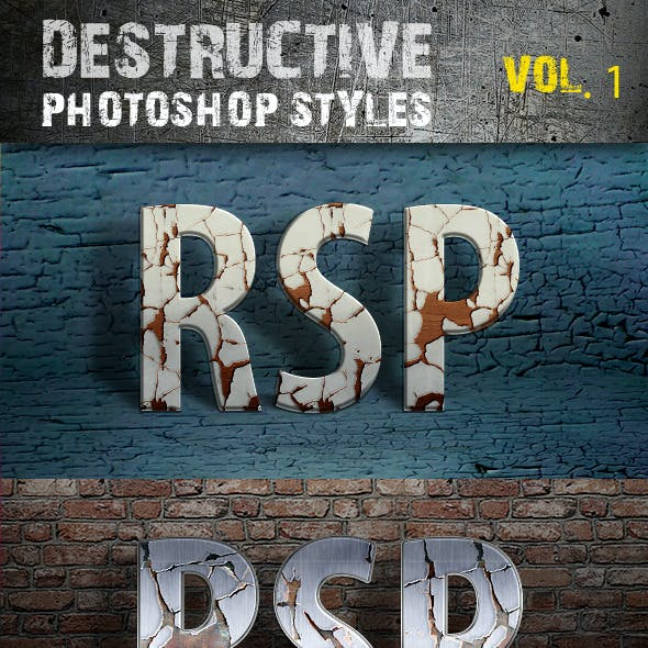 Destructive Photoshop Styles