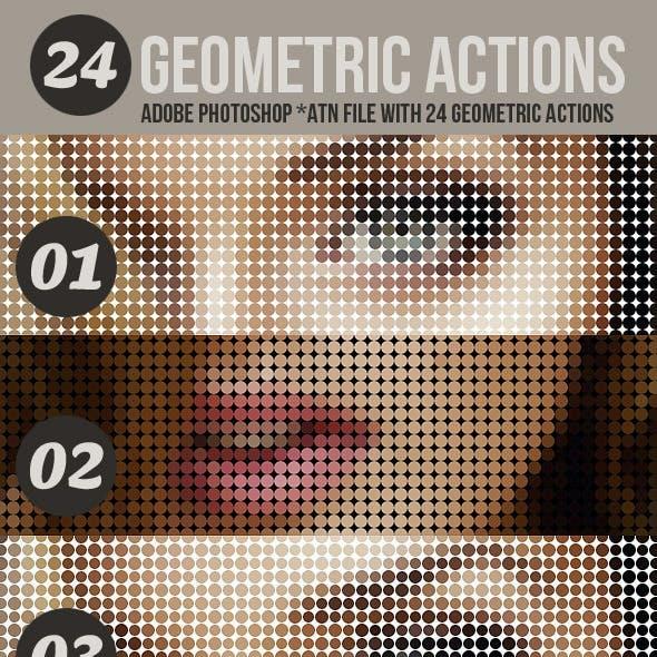 24 Geometric Photo Actions