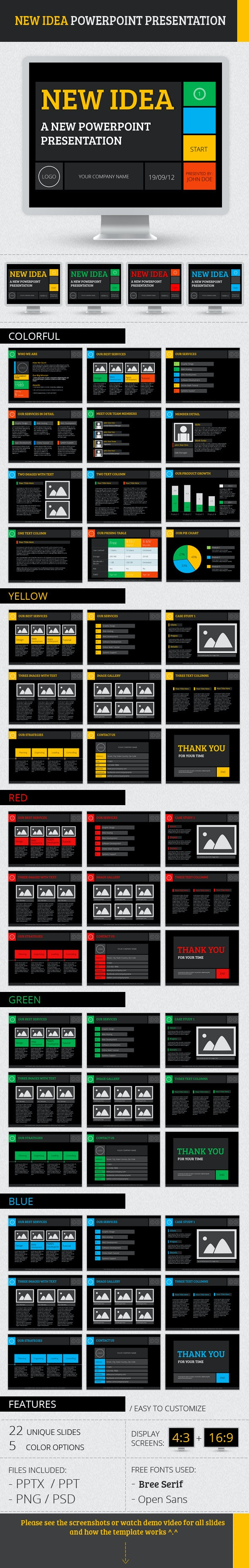 New Idea PowerPoint Presentation - PowerPoint Templates Presentation Templates