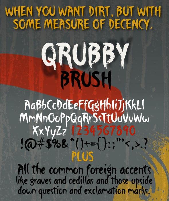 Qrubby Brush Typeface - Graffiti Fonts