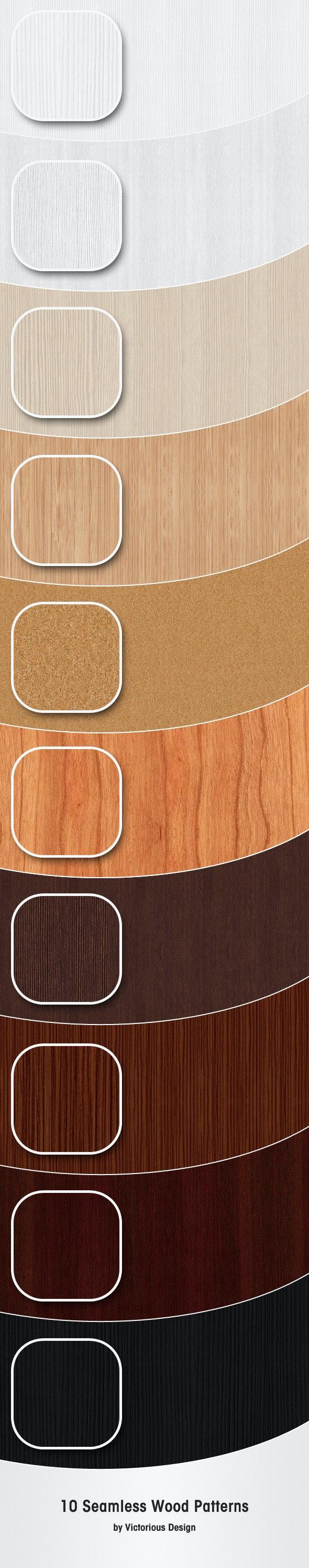 10 Seamless Wood Patterns - Textures / Fills / Patterns Photoshop
