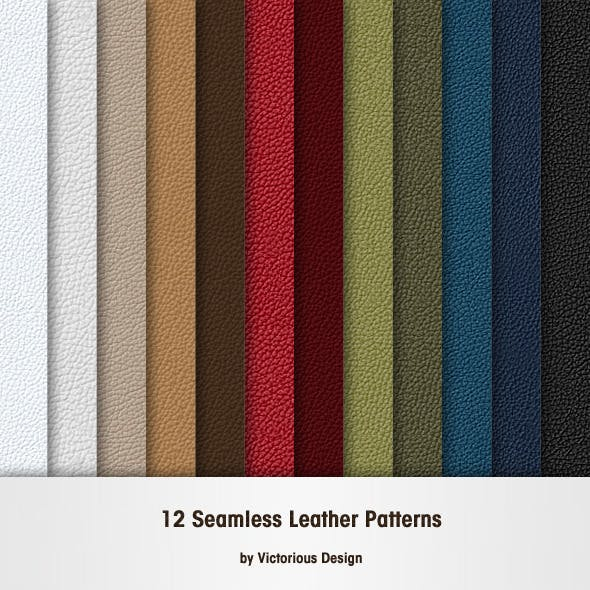 12 Seamless Leather Patterns