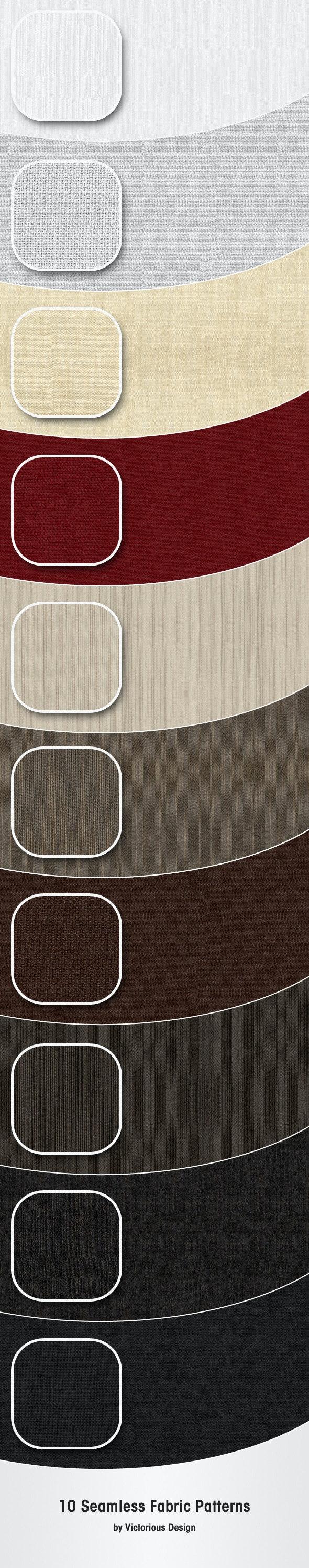 10 Seamless Fabric Patterns - Textures / Fills / Patterns Photoshop