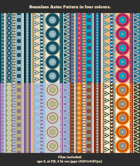 Seamless Aztec Pattern - Textures / Fills / Patterns Illustrator
