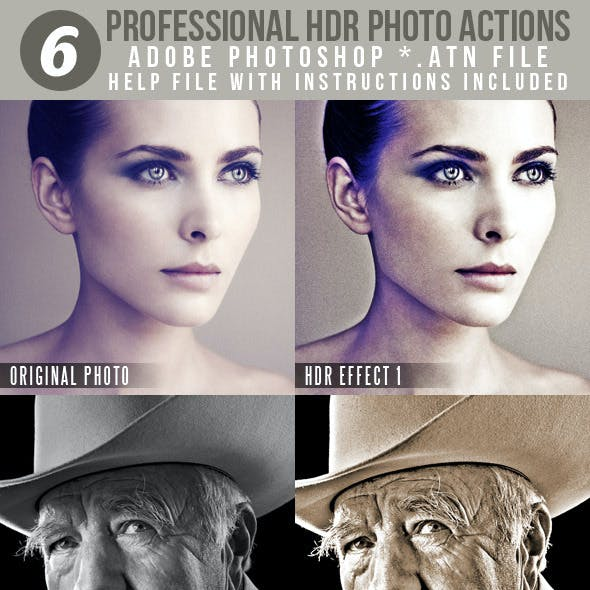 6 Professional HDR Photo Actions