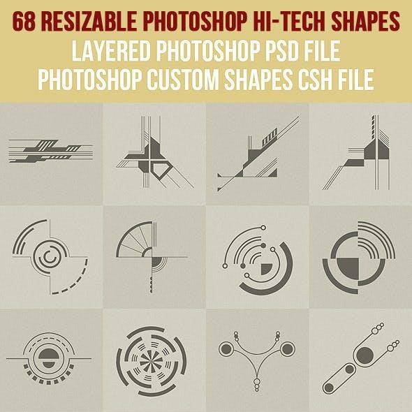 68 Photoshop Hi-Tech Shapes 1