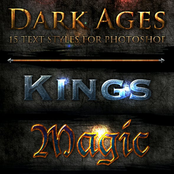 Dark Ages - Photoshop Text Styles