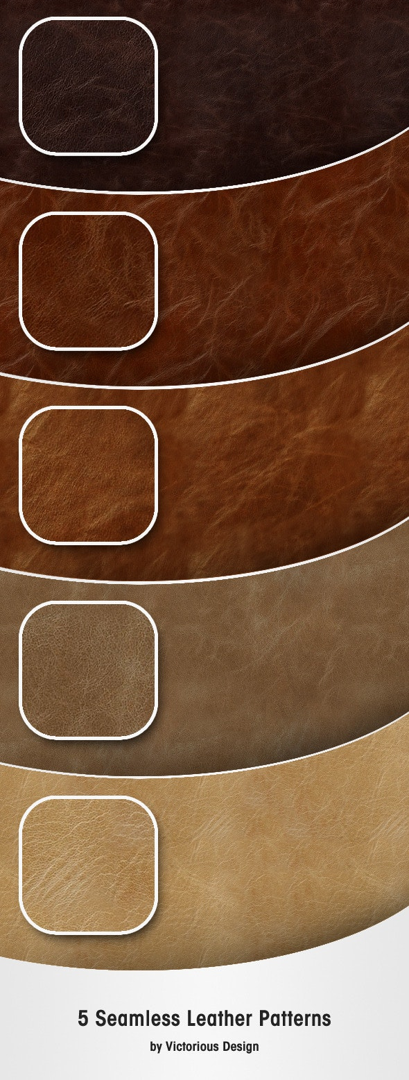 5 Seamless Leather Patterns - Textures / Fills / Patterns Photoshop