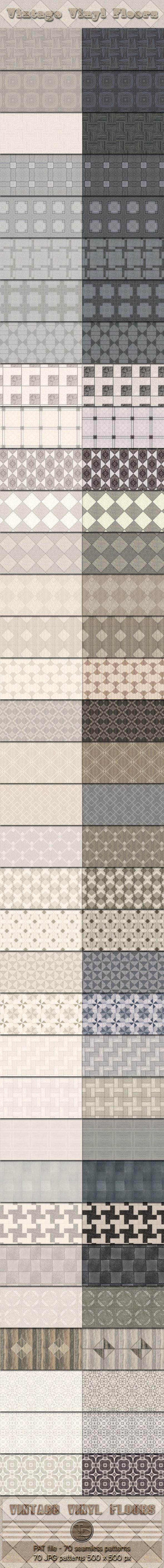 70 Vintage Vinyl Floor Seamless Patterns - Miscellaneous Textures / Fills / Patterns