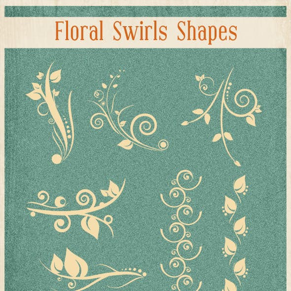 Floral Swirl Shapes