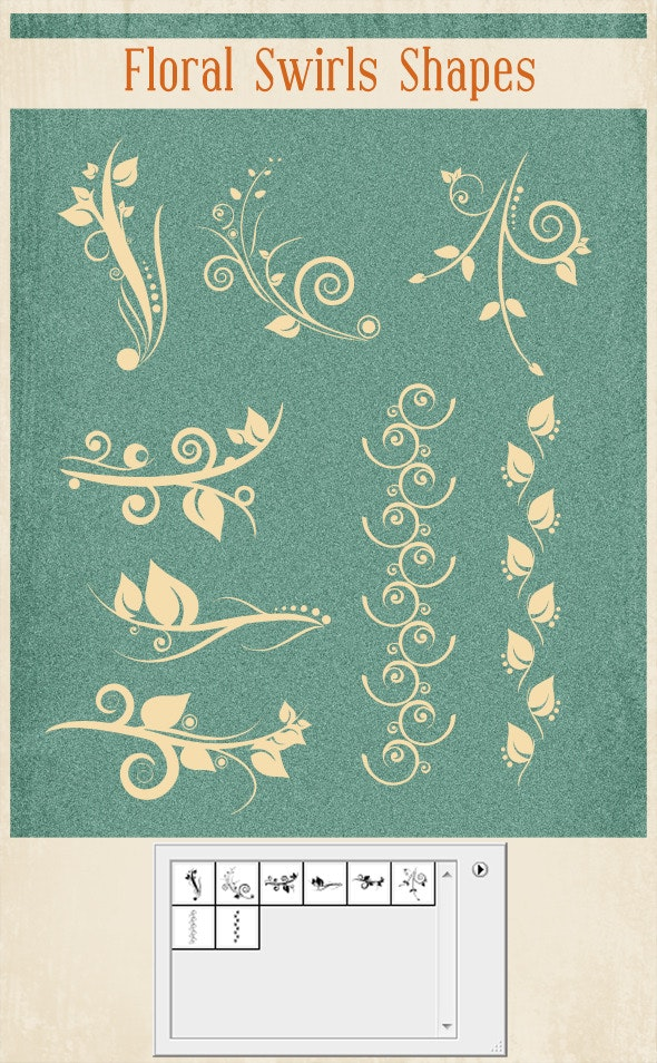Floral Swirl Shapes - Miscellaneous Shapes