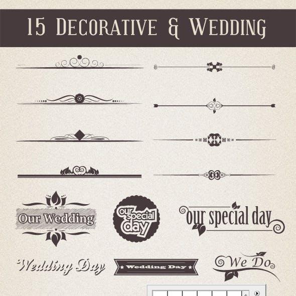 15 Decorative & Wedding Shapes