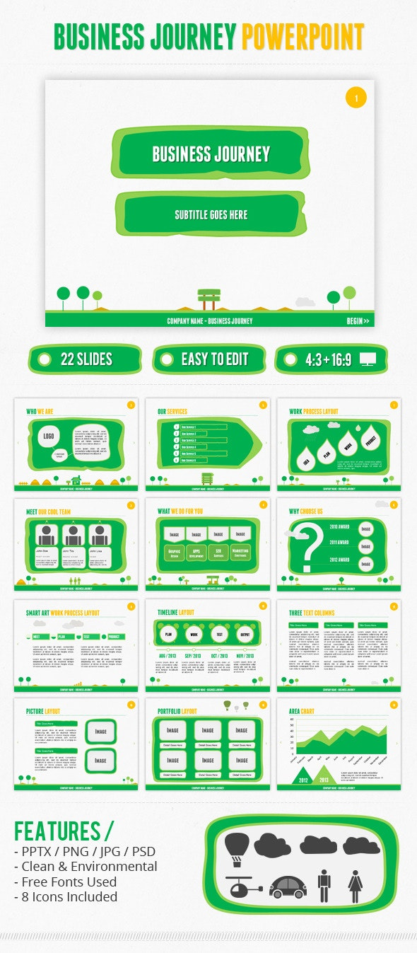 Business Journey PowerPoint - Business PowerPoint Templates