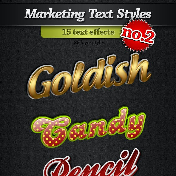 Marketing Text Styles - Pack 2