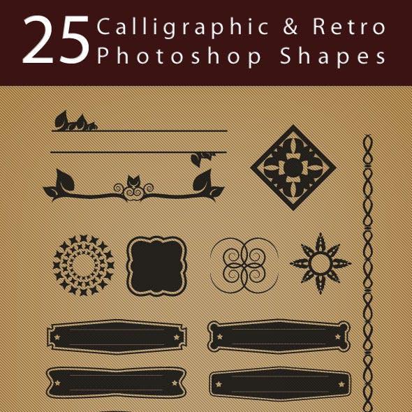 25 Calligraphic & Retro Shapes