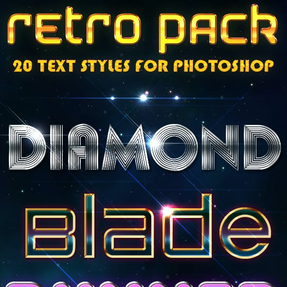 Retro Pack - Text Styles