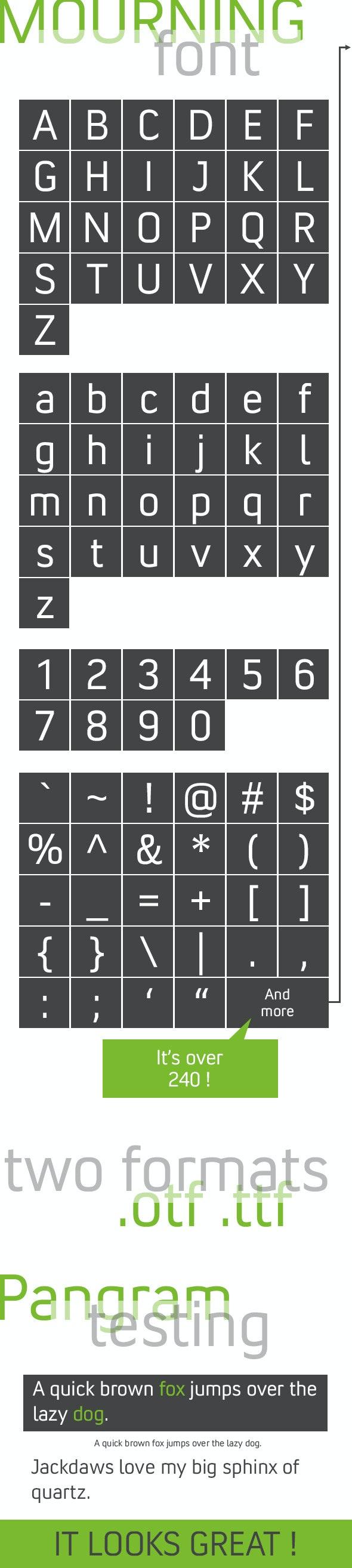 Mourning - Sans-Serif Fonts