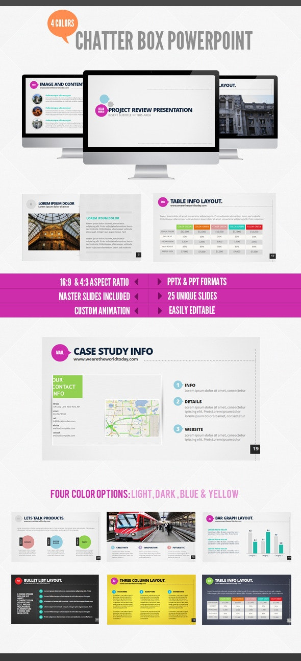 Chatterbox Powerpoint - PowerPoint Templates Presentation Templates