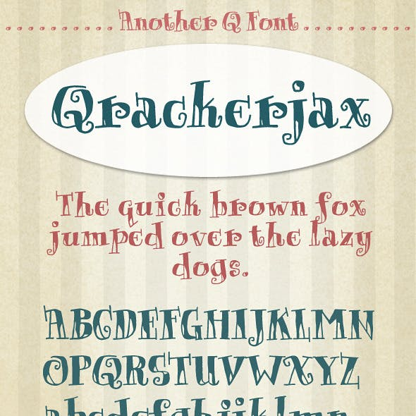 Qrackerjax; Cartoon Style Doodle Type Lettering