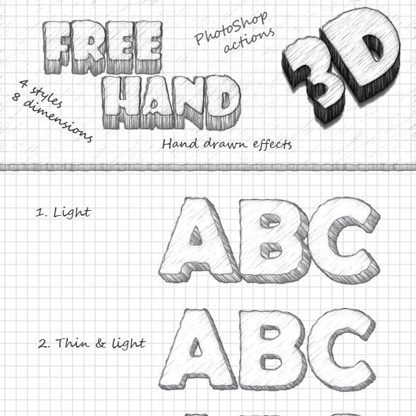 FreeHand 3D: Photoshop actions