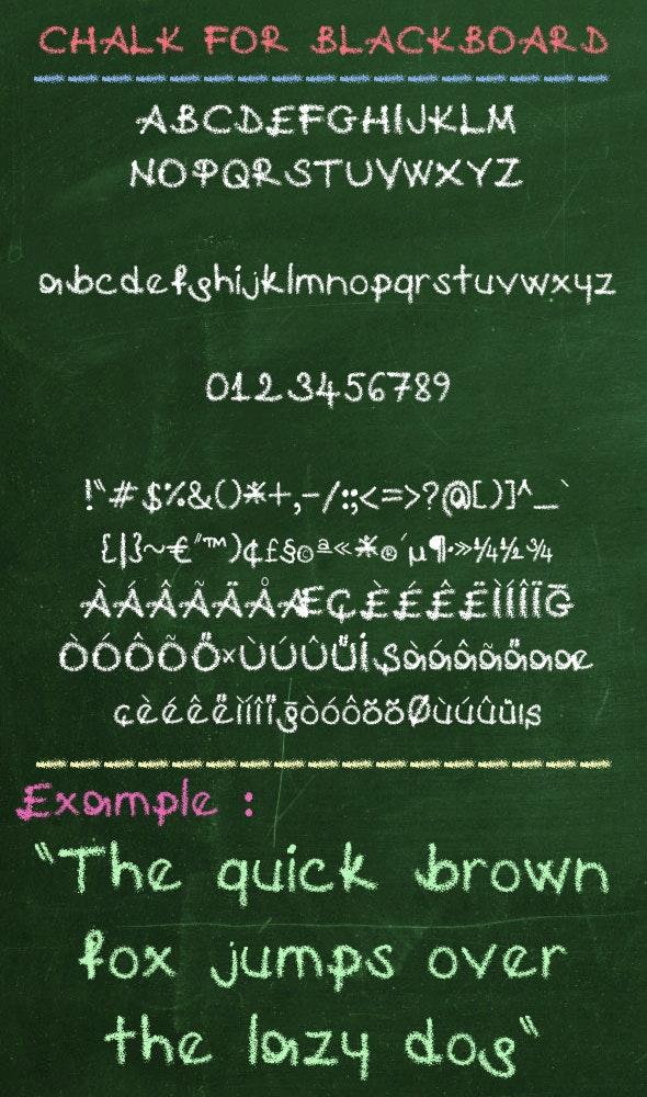 Chalk For Blackboard - Grunge Decorative