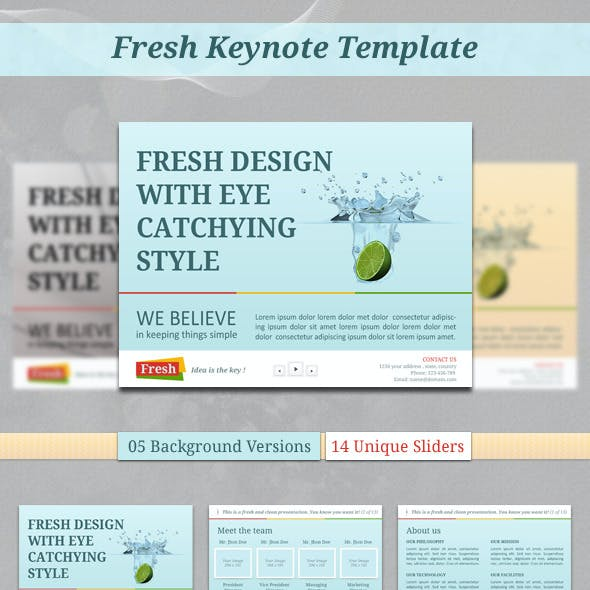 Fresh Keynote Template