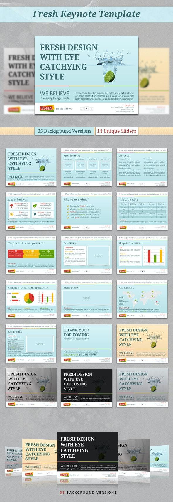 Fresh Keynote Template - Keynote Templates Presentation Templates