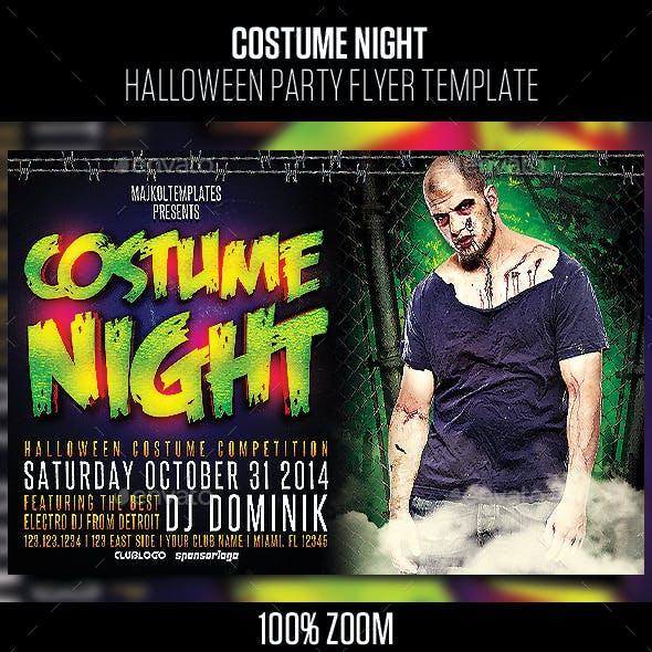 Costume Night Halloween Party Flyer