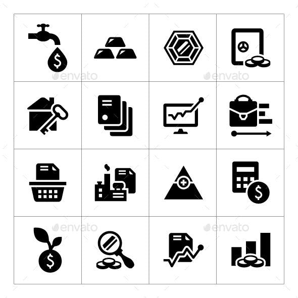 Set Icons of Investment and Finance