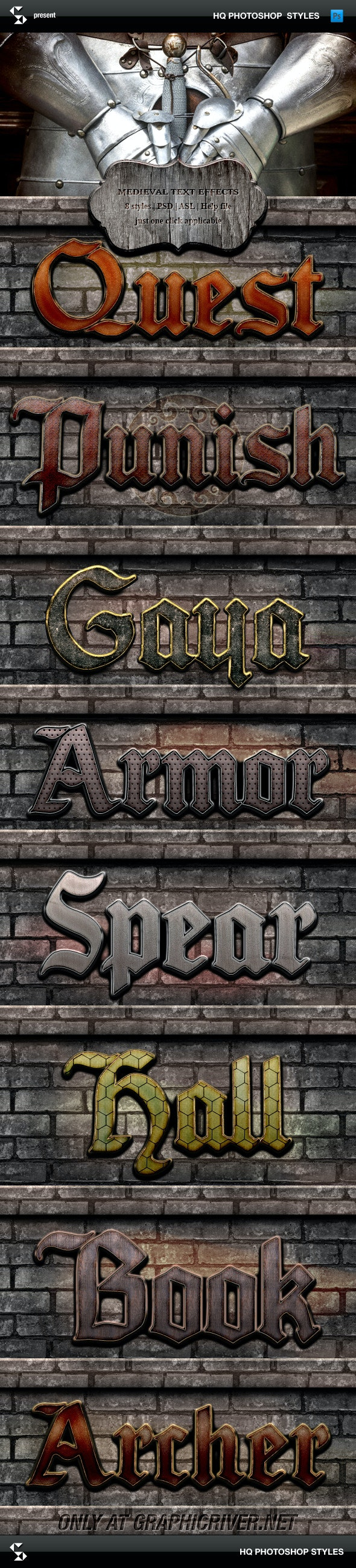 Medieval Text Effects - Medieval Game Styles - Text Effects Styles