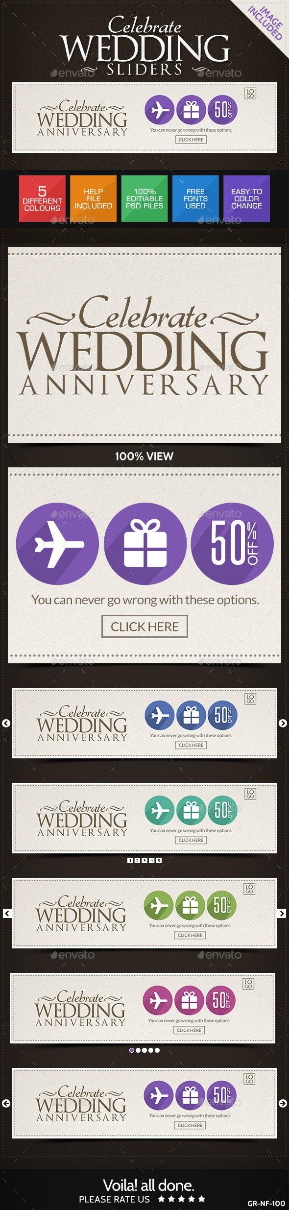 Wedding Sliders - Sliders & Features Web Elements