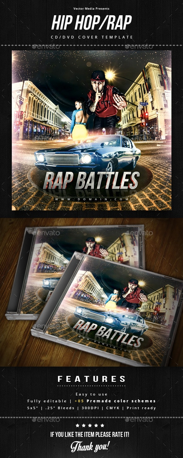 Hip Hop / Rap - Cd Cover - CD & DVD Artwork Print Templates