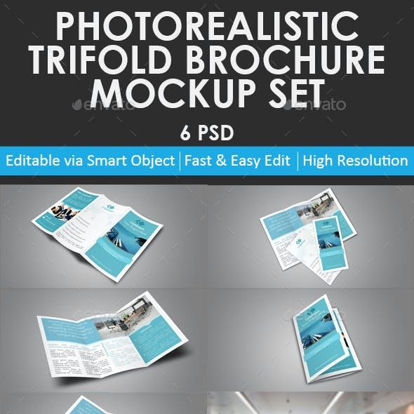 Trifold Brochure Mockup Set