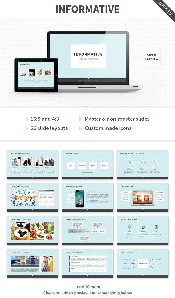 Informative PowerPoint Template - Presentation Templates