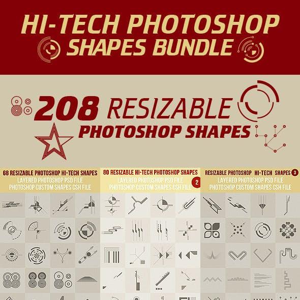 Hi-Tech Photoshop Shapes Bundle