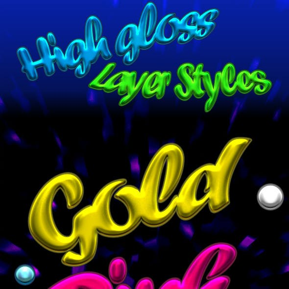High Gloss Text-Styles