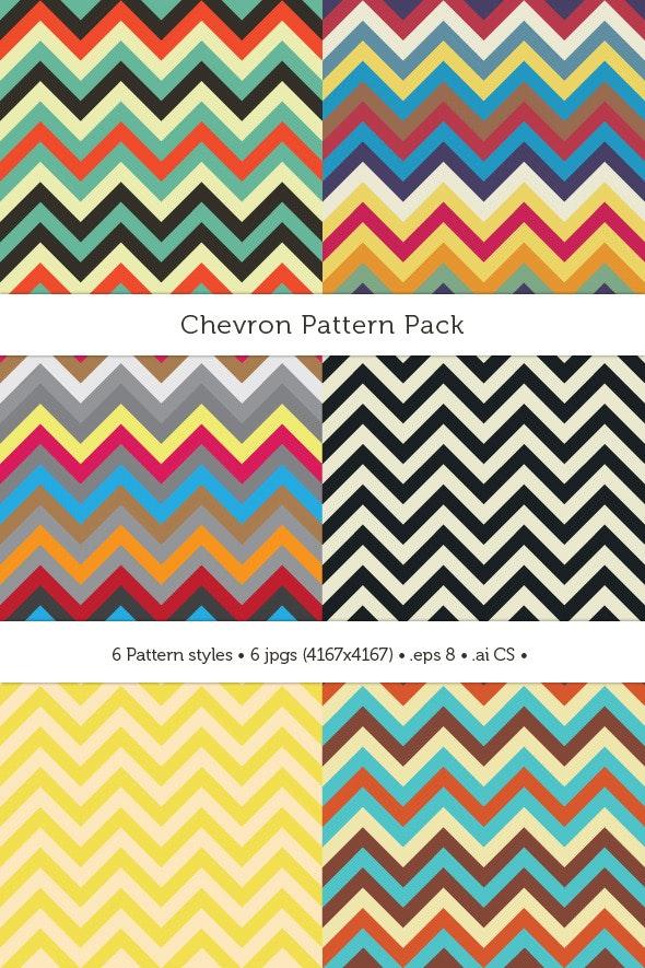 Chevron Pattern Pack - Textures / Fills / Patterns Illustrator